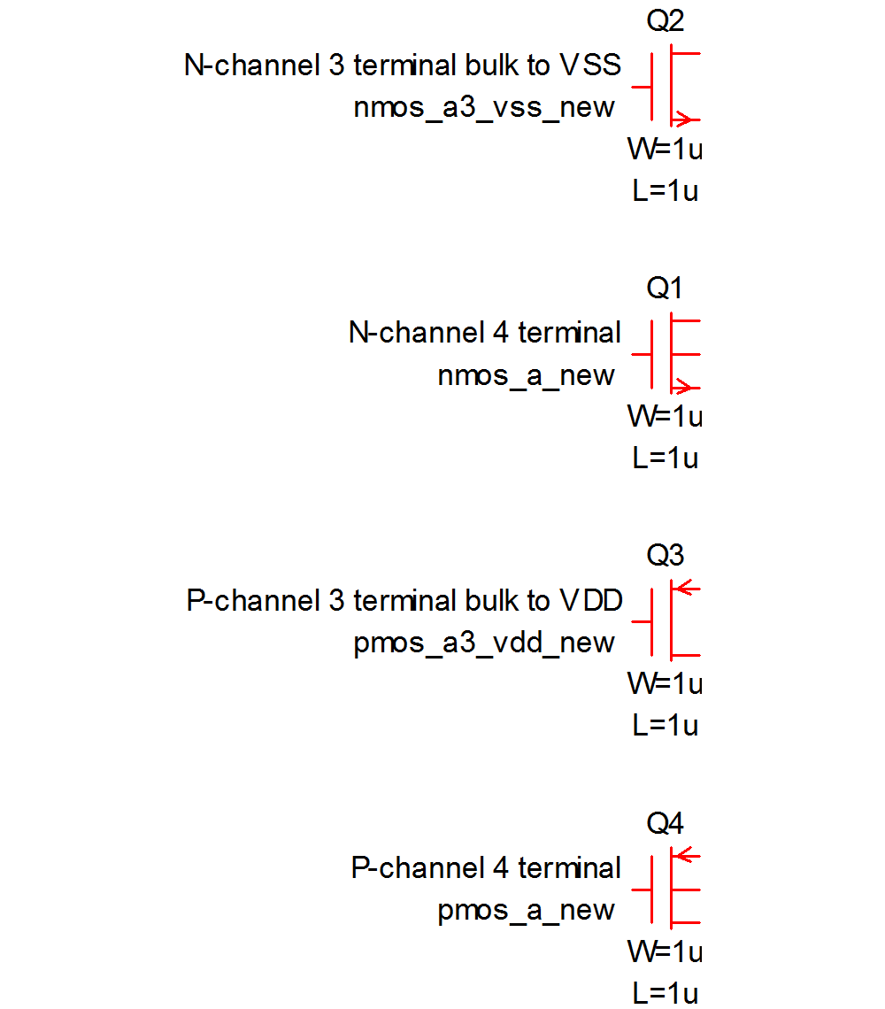 User manual using schematic editor for cmos ic design these symbols have the model name n1 for the n channel types and p1 for the p channel types these names can of course be changed after being placed on the biocorpaavc Images
